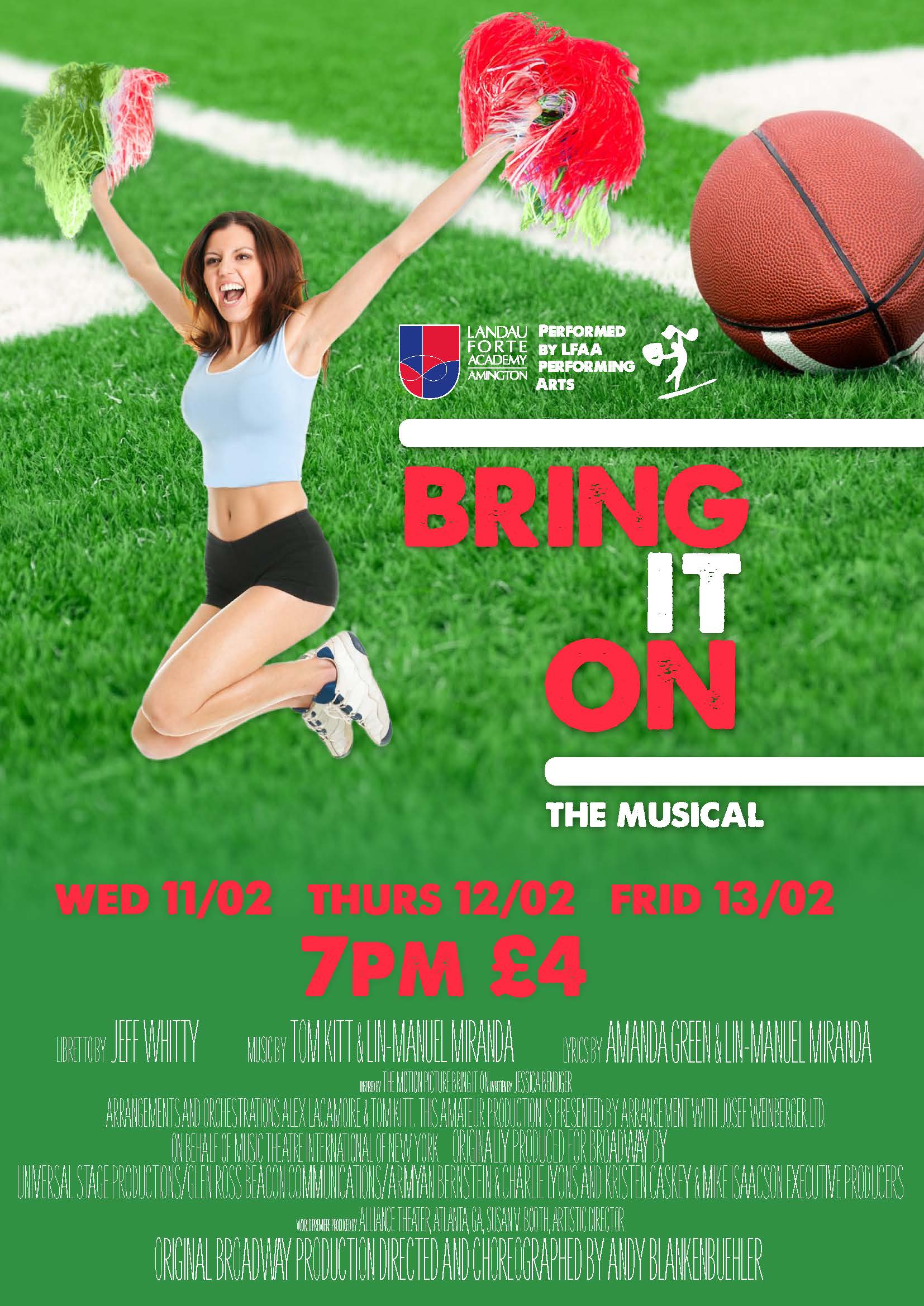 Bring it On - The Musical (Leaflet)